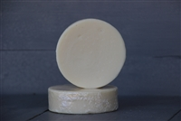 pure white round castile bar soap