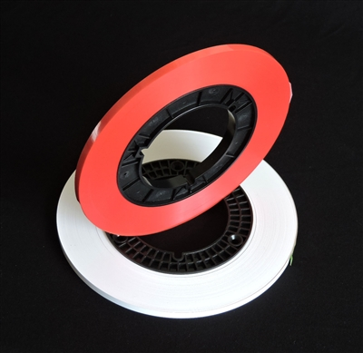 "Reel to Reel Audio Leader Tape 1/4"" and 1/2"" width by 820"" - 1000' Length on Hub in colors red and white"