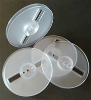 "Group of 1/4"" x 7"" Audio Tape Low Windage Plastic Reels in Clear"