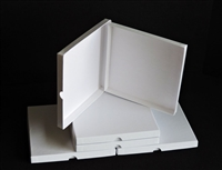 "1/4"" x 7"" White Hinged Setup Box"