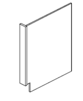 "Fordham Series Hampton White Shaker BASE END PANEL / DISHWASHER PANEL WITH 3"" RETURN FILLER (3""WX24""DX34 1/2""H) from The Cabinet Depot"