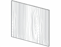 "Fairfield Series  Barrington White BASE PANEL SKIN - SINGLE SIDE FINISH (96""Wx48""H) from The Cabinet Depot"