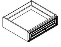"Fairfield Series  Contemporary SPICE DRAWER - 1 DRAWER (6""Wx24""D""x34 1/2""H)  from The Cabinet Depot"