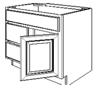 "Fordham Series  Stafford Shaker Vanity SPICE DRAWER - 1 DRAWER (6""Wx24""D""x34 1/2""H) from The Cabinet Depot"