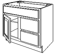 "Fordham Series  Chelsea RP SPICE DRAWER - 1 DRAWER (6""Wx24""D""x34 1/2""H) from The Cabinet Depot"