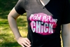 Pistol Packing Chick V Neck Shirt
