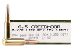 Magtech 6.5 Creedmoor Ammo 140 Grain Full Metal Jacket