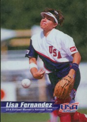 Lisa Fernandez USA Womens Softball Promo Card