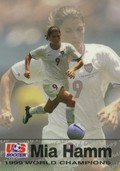 Mia Hamm Soccer Card Premier Single
