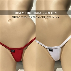Mini Micro Thong - Cotton - Black