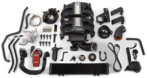 EDELBROCK E-FORCE COMPLETE SUPERCHARGER SYSTEM WITH TUNER FOR 2009-10 FORD F-150 2-WHEEL DRIVE (5.4L 3V) AND 2007-11 FORD EXPEDITION AND LINCOLN NAVIGATOR  - 1583