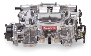 EDELBROCK THUNDER SERIES AVS 800 CFM CARBURETOR, SQUARE-FLANGE, ELECTRIC CHOKE (NON-EGR)- SATIN FINISH -- 1813