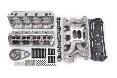 EDELBROCK RPM FOR 351W S/B FORD (1969-95) POWER PACKAGE TOP END KIT- 443HP & 424 FT/LBS- SATIN FINISH  - 2090