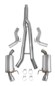 "Hooker Blackheart 2015 Ford Mustang Ecoboost I4, 2.3L - 3"" Into Dual 2 1/2"" Cat-Back Exhaust System with Mufflers (Polished Tips)  -- 70503311-RHKR"
