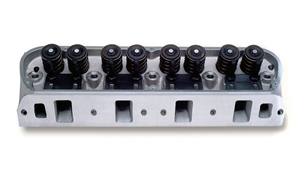 EDELBROCK VICTOR JR 20 (60CC) CYLINDER HEADS FOR S/B FORD W/ MECHANICAL FLAT TAPPET OR HYDRAULIC ROLLER CAMSHAFT APPS (BARE, SINGLE)  -- 77169