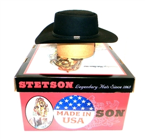 Limited Edition Carroll Shelby Black Stetson Collectors Hat - Size Small
