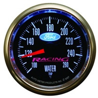 "Ford Racing 2-1/16"" Electric Water Temperature Gauge 100-260F -- M-10883-BFSE"