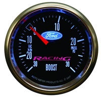 "Ford Racing 2-1/16"" Electric Vacuum/Boost Pressure Gauge 30"" HG/ 30 PSI"