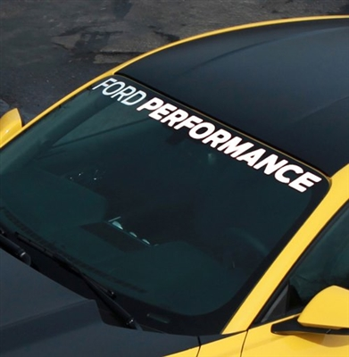 "2015-2016 MUSTANG ""FORD PERFORMANCE"" WINDSHIELD BANNER -- M-1820-MB"