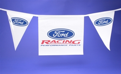 """FORD RACING"" 50-FT. PENNANT STRING -- M-1827-P1"