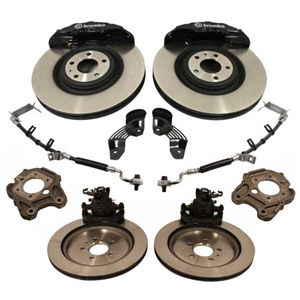 SHELBY GT500 SIX PISTON CALIPER 15-INCH ROTOR BRAKE KIT -- M-2300-T