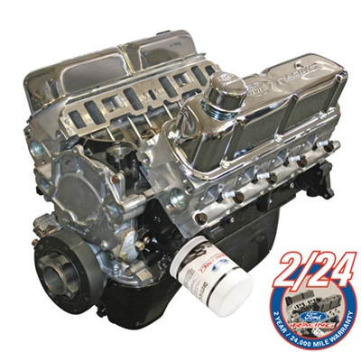 Bargain Crate Motor -- 5.0L/302 340 HP GT-40 ALUMINUM HEAD FORD RACING PERFORMANCE CRATE ENGINE ASSEMBLY