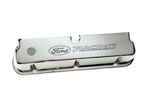 "LASER ETCHED CHROME ""FORD RACING"" VALVE COVERS -- M-6582-LE302C"