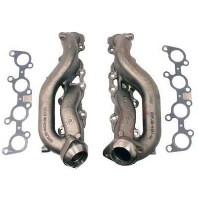 2015 5.0L COYOTE STREET ROD CAST IRON EXHAUST MANIFOLDS -- M-9430-SR50A