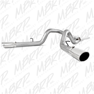 "MBRP 1999-2004 Ford F-250/350 V-10 Cat Back, 4"" Dual Split Side, Aluminized  -- S5208AL"