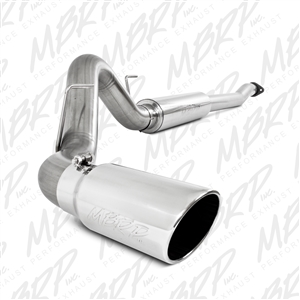 "MBRP 2011-2014 Ford F150, V6 Ecoboost 4"" Cat Back, Single Side Exhaust, T409  -- S5248409"