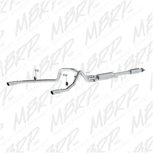 "MBRP 2015 Ford F150 2.5"" Cat Back, Dual Rear Exit, Aluminized  -- S5258AL"