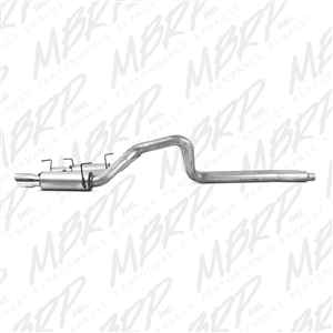 "MBRP 2007-2010 Ford Shelby GT500 Dual Mufflers Cat Back, Dual Split Rear, Street Version T304, 4"" Tips  -- S7270AL"