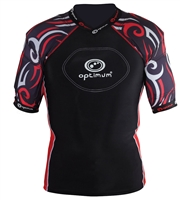 Optimum Razor Protective Rugby Top (Black/Red)