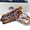 Dark Chocolate w/ Multi-Colored Sprinkles (1 Dozen)