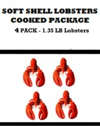 4 - 1.35 lb LOBSTER PACKAGE DEAL (SOFTSHELL LOBSTERS) - COOKED ONLY