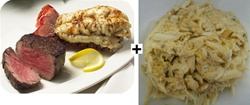 Surf n Turf Special with Crab Cake
