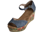 Toms Shoes Inc.: Platform Chambray Floral