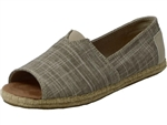 Toms Shoes Inc.: Alpergata Open Toe Natural Metallic Linen