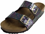 Birkenstock: Arizona Black Multi Shiny Snake