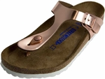 Birkenstock: Gizeh Metallic Copper
