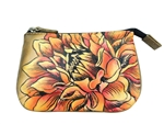 Med. Coin Purse Dreamy Dahlias Brnz
