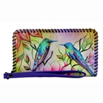 Zip Around Wristlet Spring Passion