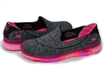 Skechers: GO FLEX Walk – Ability Walking Shoes Black-Hot Pink