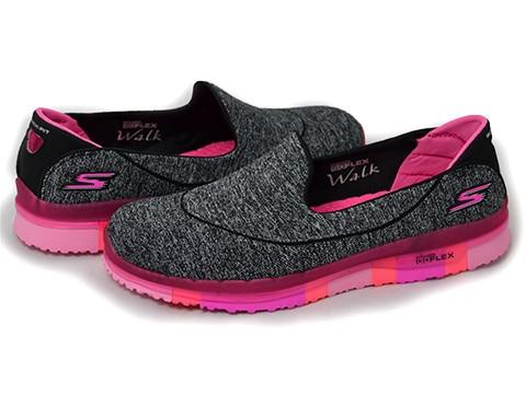 Skechers GO FLEX Walk Ability Walking Shoes Black Hot Pink