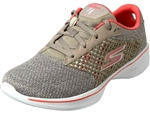 Skechers: GO Walk 4 Taupe/Coral