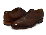 Johnston & Murphy: Melton Cap Toe Tan Italian Calfskin