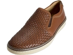Johnston & Murphy: McGuffey Woven Slip On Tan