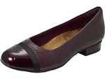 Clarks: Keesha Rosa Aubergine Leather