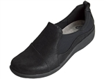 Clarks: Sillian Paz Black Synthetic Nub