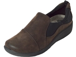 Clarks: Sillian Paz Dark Brown Synthetic Nub